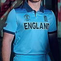 New Balance ECB Replica WC19 Champions ODI Short Sleeve Camiseta, Hombre, Azul, Extra-Large