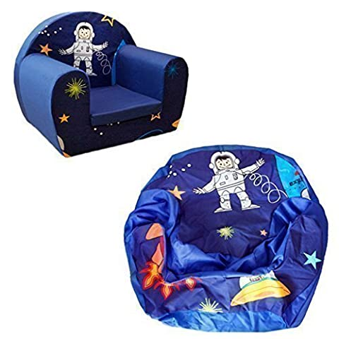 Ready Steady Bed Space Boy Cover for Children's Foam Armchair
