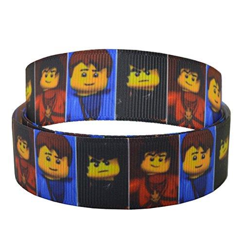 2 m langes und 22 mm breites Dekoband mit Lego-Motiv, ideal für Geschenke