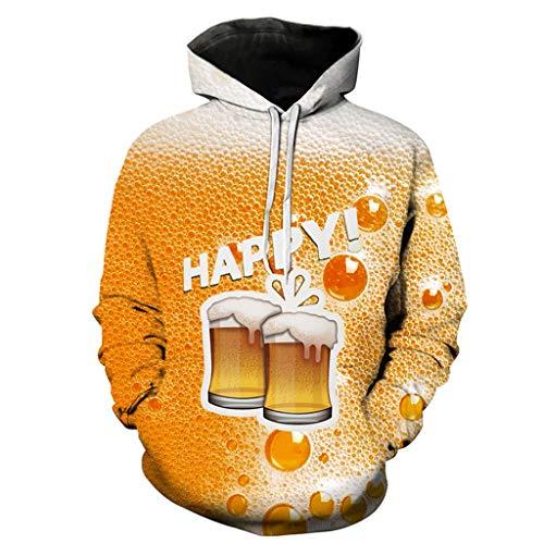 TYTUOO Herrenhemd Lässig Langarm Bier Festival 3D Druck Hoodies Sweatshirt - Lässige Motorrad-shirts
