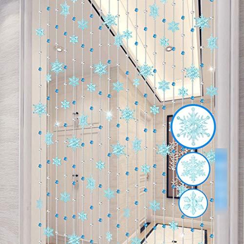 Unmbo Cristal Flecos Cortina de Cuentas, Transparente Cortina de Cuent