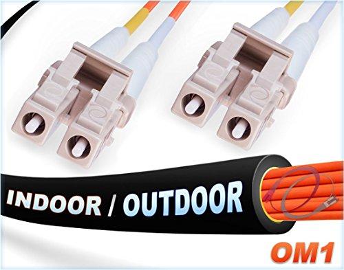 OM1LC LC in/outdoor Duplex Fiber Patchkabel 62,5/125-Multimodefasern - 125 Mmf-faser
