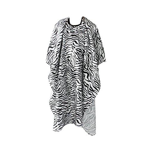 Generic salone parrucchiere mantella barbiere mantellina capelli di taglio abito impermeabile zebra print