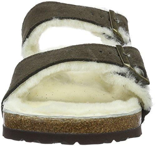 Birkenstock Arizona Fur Damen Zehentrenner Braun (Mocca)