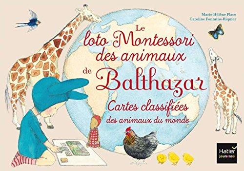 Jeu 4 : Le loto Montessori de Balthazar - les animaux par Marie-Hélène Place