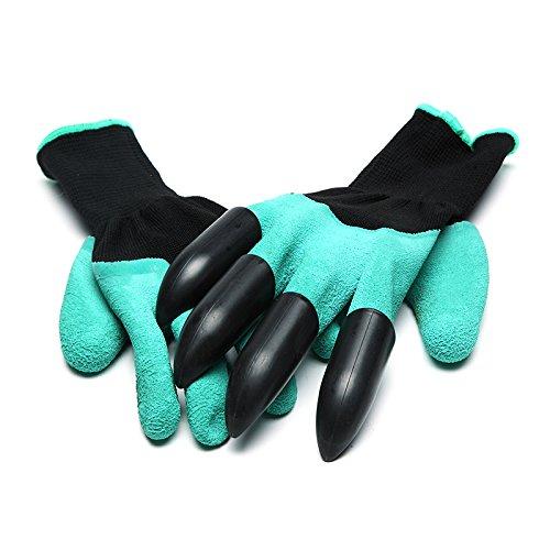 Bluelover un paio di guanti da giardinaggio che piantano guanti di sicurezza in gomma poliestere