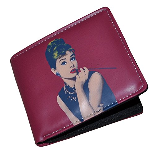 n/Damen Rot Portemonnaie (Wallet) (Audrey Hepburn Geldbörse)