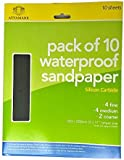 Silicone Carbide Sandpaper Sheets 10 Pack | Waterproof Sandpaper Wet & Dry