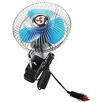 Ventilador - SODIAL(R)Portatil 12V Ventilador del coche Abanico electrico Enfriador