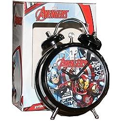 avengers marvel despertador niños de metal estilo retro Hulk Iron Man Captain America Thor