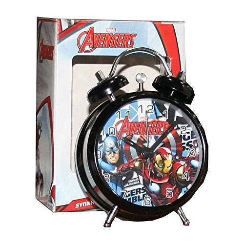Marvel Avengers Despertador niños de Metal Estilo Retro Hulk Iron Man Captain America Thor