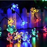Dephen Solar String Lights, 22ft 50 LED Solar Powered String Flower Fairy Blossom Lights Christmas Decorative Lighting for Home, Gardens, Lawn, Patio, Halloween, Christmas Trees, Weddings, Party Decoration (Multicolour)