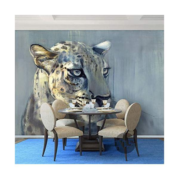 Carta Da Parati Animalier.Luludsoo Murales Di Animali Leopardati 3d Murale Di Carta Da Parati Animalier Per Soggiorno Sfondo 3d Murali Fotografici Murali Di Carta Da Parati