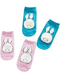 Patrón de Conejo de Peluche Unisex del Bebé Calcetines de Dibujos Animados Lindo Calcetines de Algodón