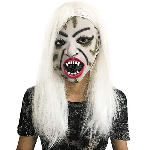 � Haar Hexe Maske Teufel Horror Ghost Gesicht Regenschirm Performing Party Kostüm Dekoration ()