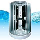 AcquaVapore DTP8058-1311 Dusche Duschtempel Komplett Duschkabine -Th. 90x90, EasyClean Versiegelung der Scheiben:2K Scheiben Versiegelung +89.-EUR
