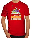 ShirtStreet Fasching Karneval Herren T-Shirt mit Das ist Mein Märchen Kostüm Motiv, Größe: XXL,Rot