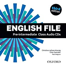 English File third edition: Pre-intermediate: Class Audio CDs by Oxenden, Clive (2012) Audio CD