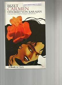 Bizet - carmen - herbert von karajan - orchestre symphonique de vienne - LIVRE 63 PAGES + 2CD