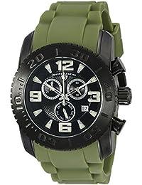 Swiss Legend hombres del Comandante 47mm cronógrafo verde banda de silicona Fecha reloj de cuarzo swiss 10067-BB-01-MGRS