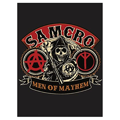 SOA Sons of Anarchy Hommes de Mayhem velours en peluche Couverture 152,4 x 203,2 cm officielle