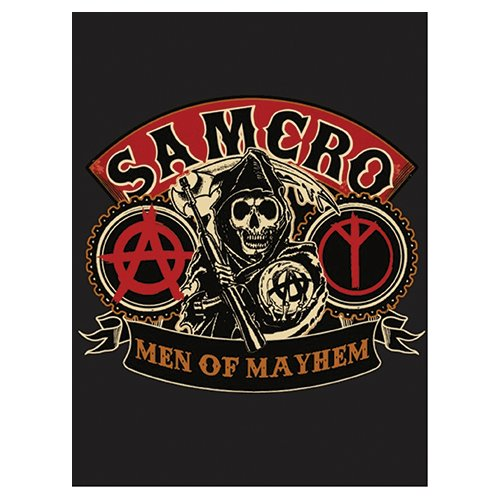 Native American-print-decke (SOA Sons of Anarchy Men of Mayhem Velours Plüsch Decke 152,4 x 203,2 cm Offizielles)