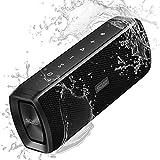 SCIJOY Wireless Bluetooth Lautsprecher, 16W Tragbarer BT4.2 Lautsprecher Wasserdicht IPX6, Bass Stereo mit 12 Std.-Spielzeit, Freisprechfunktion für Handy, WTS für Outdoor/Dusche/Party