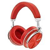 Bluedio T4S (Turbine) - Cuffie Over-ear Bluetooth Orientabili con Cancellazione Attiva del Rumore e Microfono (Rosso)