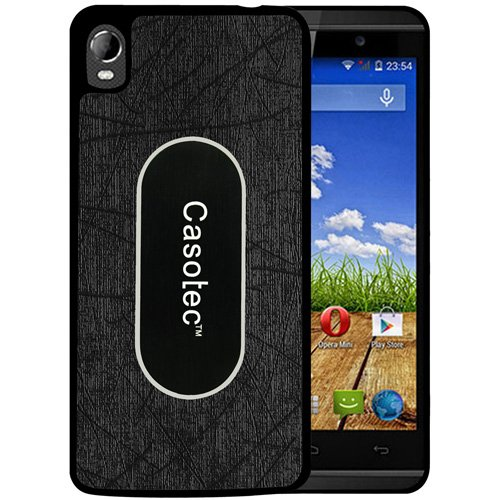 Casotec Metal Back TPU Back Case Cover for Micromax Canvas Fire A104 - Black  available at amazon for Rs.149
