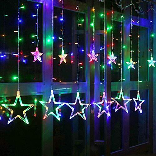 SATYAM KRAFT Star Light Curtain for Decoration (Yellow)