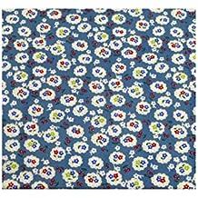 Azul diseño de flores de cerezo en flor con tela de algodón - Fat de un cuarto de