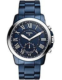 FOSSIL Hybrid Smartwatch - Q Grant Blue Stainless Steel/Men's Quartz Wrist Watch with Activity Tracker - Water resistant