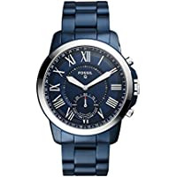 Fossil Hybrid Smartwatch - Q Grant Blue Stainless Steel – Men's Quartz Wrist Watch with Activity Tracker - Water Resistant