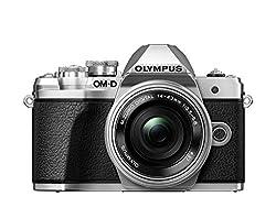 Olympus OM-D E-M10 Mark III Kit, Micro Four Thirds Systemkamera und M.Zuiko Digital ED 14-42 mm F3.5-5.6 EZ Zoomobjektiv, silber