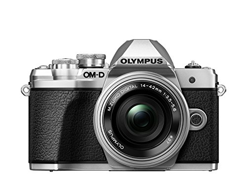 Olympus OM-D E-M10 Mark III Systemkamera (16 MP, 5-Achsen Bildstabi., elektr. Sucher, 4k, WLAN) Kit + 14-42mm EZ silber Gps-audio-kit