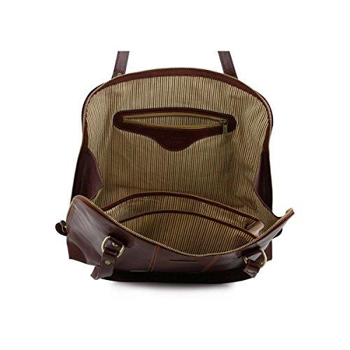 Tuscany Leather - Ravenna - Damen Business Tasche aus Leder Schwarz - TL141277/2 Braun