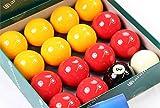 Aramith Premier League Billardkugeln, rot/gelb, 5,1cm, 1 weiße Kugel, 2,2cm
