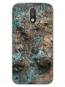 MADANYU Textured Blue Rock Classy Stone Marble Designer Printed Hard Back Shell Case For Moto G4/ Moto G4 Plus