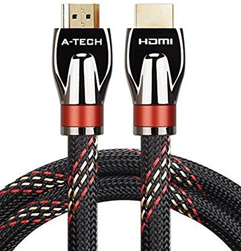 KPA-tech Ultra High Speed Hdmi Kabel 15m Audio Kabel Unterstützung Ethernet, 3D, 1080p und Audio Return (ARC) CL3 Funktion und mit 24k vergoldeten Stecker - Full Hd [Neueste - Neueste Tv