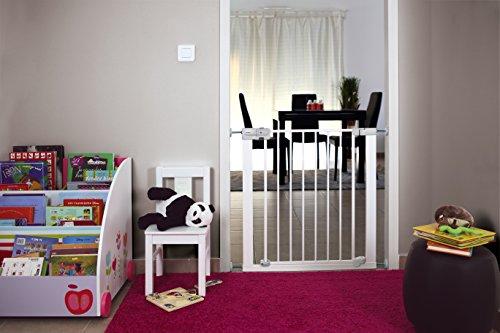 Safety 1st SecurTech Tür- und Treppenschutzgitter, aus Metall, schließt automatisch,Weiß - 6