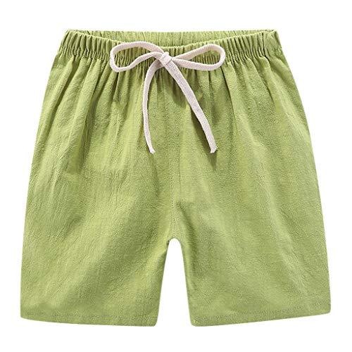 Yuan  Sommer Kinder Kinder Jungen Mädchen Leinen Casual Shorts Elastische Taille Hosen Kleidung Kinder Casual Hosen Mädchen Baumwollshorts (Girl Kostüme Hot Cosplay)