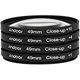 Andoer® 49mm Macro Close-Up filtre un ensemble de +1 +2 +4 +10 avec étui poche pour Nikon Canon Sony DSLR