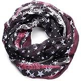 NavyBlu® Loop Schal Schlauchschal mit Stern Design - weiche und warme Qualität A08