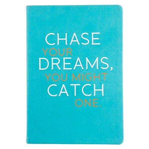 Eccolo 6 x 8 Inches Style Journal, Aqua Chase Your Dreams (D436A) by Eccolo (Aqua Journal)
