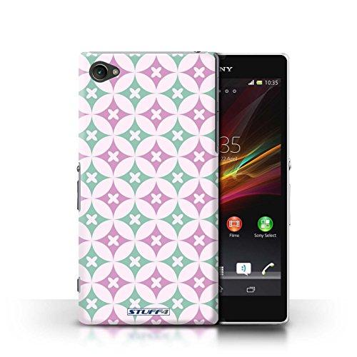 Kobalt® Imprimé Etui / Coque pour Sony Xperia Z1 Compact / Violet / Vert conception / Série Kaléidoscope Rose vive / vert