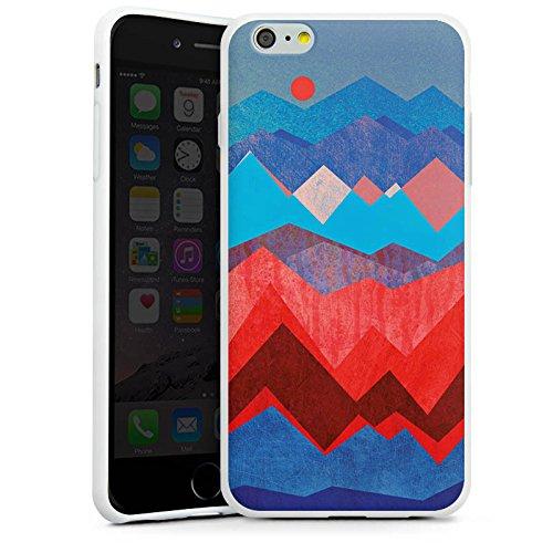 Apple iPhone X Silikon Hülle Case Schutzhülle Berge Muster Sonne Silikon Case weiß
