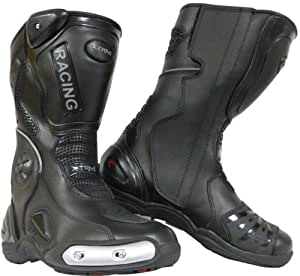 XTRM 705 [UK 7 / 41 EU] MOTORBIKE MOTORCYCLE SCOOTER Sport Racing Urban Boots BLACK