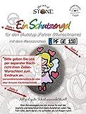 EIN Autofahrer Schutzengel (rosa) mit Automarke, Name und Wunschkennzeichen Eindruck - Unikat - Glücksbringer Mutmacher Talisman