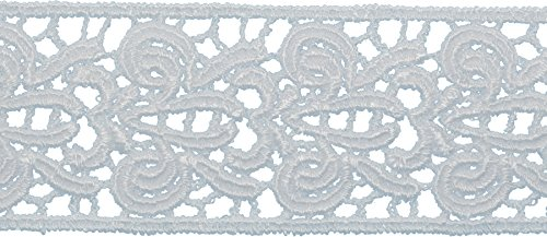 Fleur Trim (Decorative Trimmings Fleur-De-Lis Venice Lace Trim 1-1/2