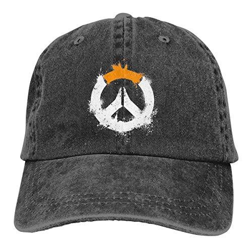 Ktmasa Sombra Overwatch Logo Baseball Caps Adjustable Denim Fabric Hat -